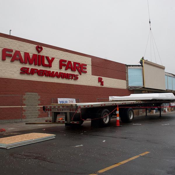 Panel Install Family Fare Supermarket