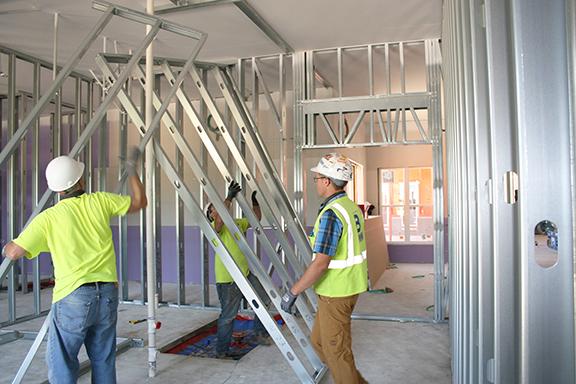installing interior wall panels