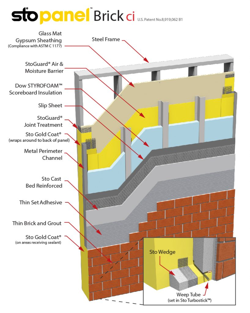 StoPanel Brick ci Panel Detail Drawing