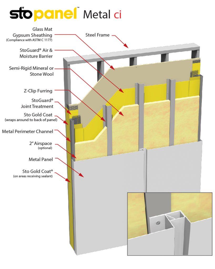 StoPanel Metal ci Panel Detail Drawing