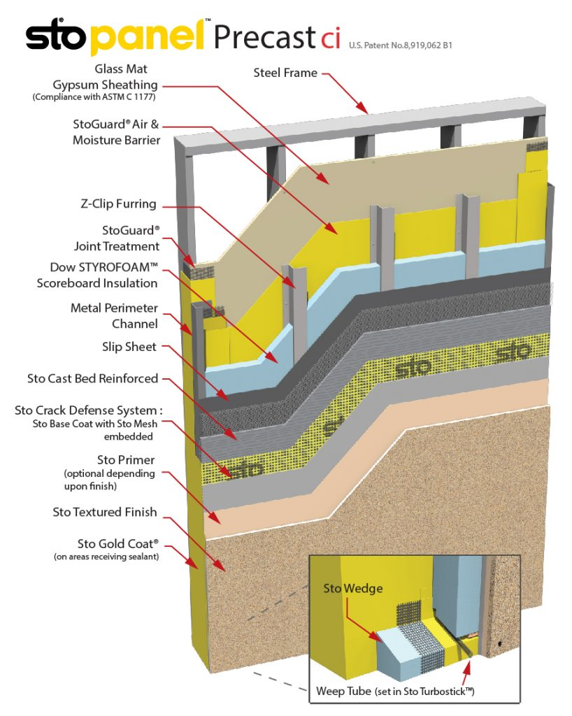 StoPanel Precast ci Panel Detail Drawing