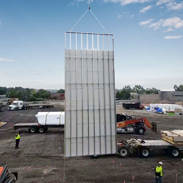 panel being lifted at jobsite 2